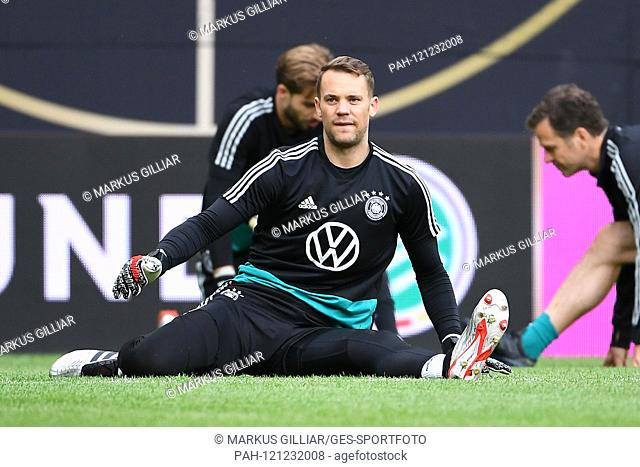 Goalkeeper Manuel Neuer (Germany). GES / football / final training of the German national football team in Mainz, 10.06.2019 Football / Soccer: Practice of the...