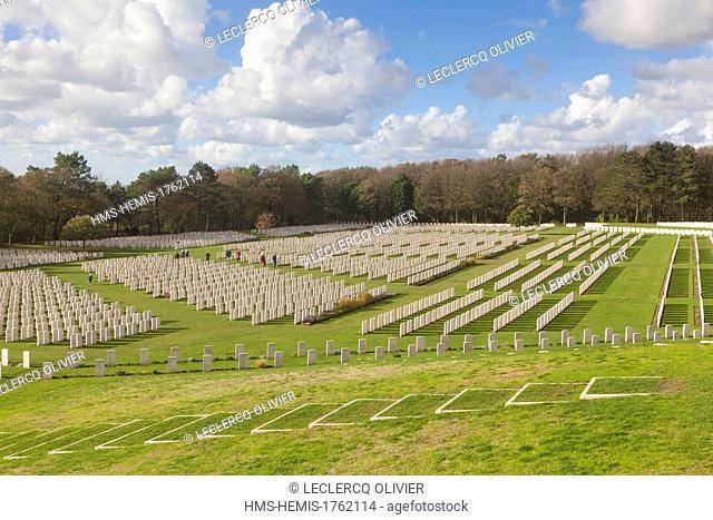 France, Pas de Calais, Etaples, british military cemetery from World War I