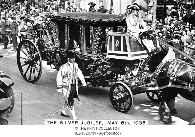 King George V's Silver Jubilee, London, 6th May, 1935. The Speaker's Coach