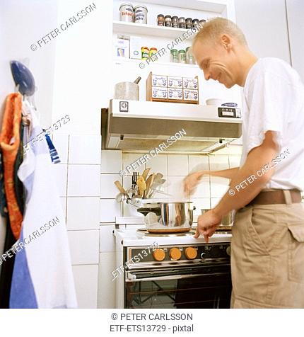 A man in the kitchen Sweden