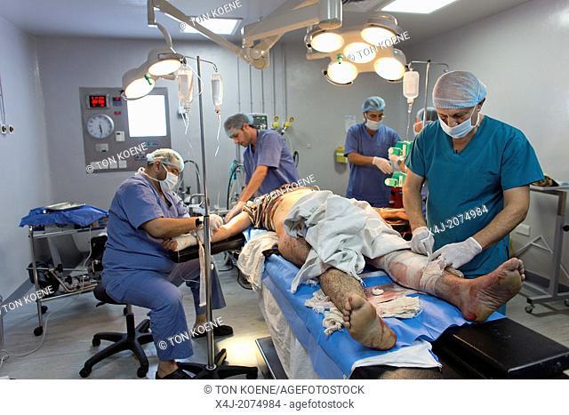 emergency (surgical) medical aid to Sryian war victims in Ramtha hospital, jordan