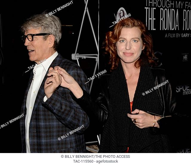 """Eric Roberts and Tanna Frederick attends the Screening Of """"""""Through My Father's Eyes: The Ronda Rousey Story"""""""" at the TCL Chinese Theatre 6 on December 30"""