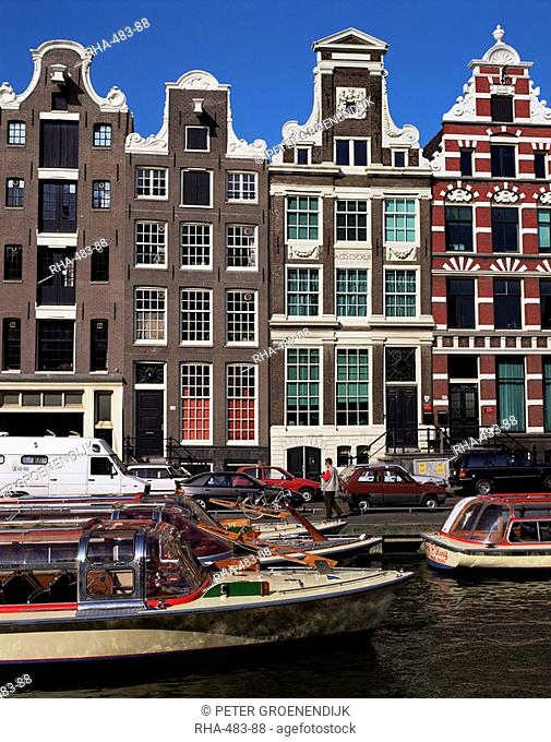 Houses dating from the 17th century, Amsterdam, Holland, Europe