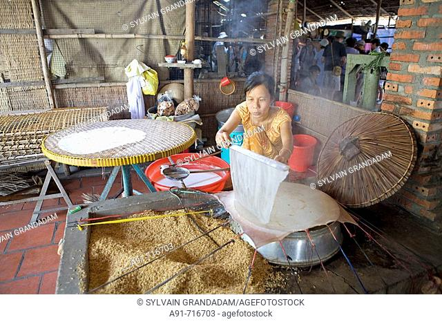 Rice processing in Can Tho, Vietnam