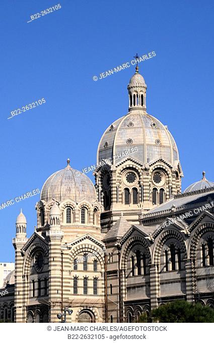 Cathédrale Sainte-Marie Majeure, cathédrale de La Major, cathedral of Saint Mary Major..Marseille, Bouches-du-Rhône, région PACA, Provence-Alpes-Côte d'Azur