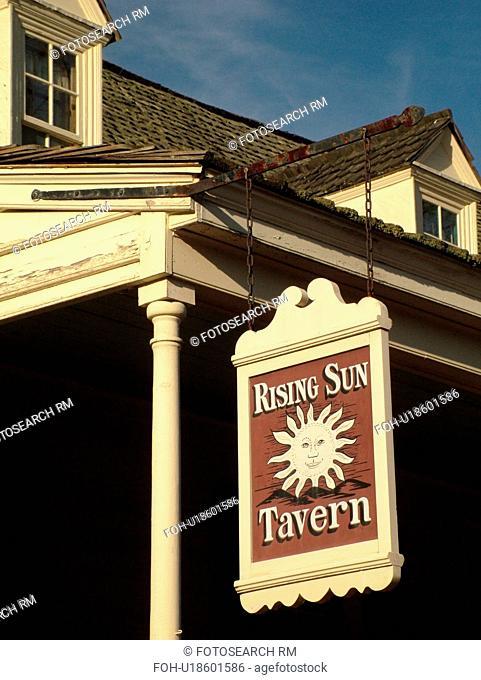Fredericksburg, VA, Virginia, Historic Downtown, Caroline Street, Rising Sun Tavern