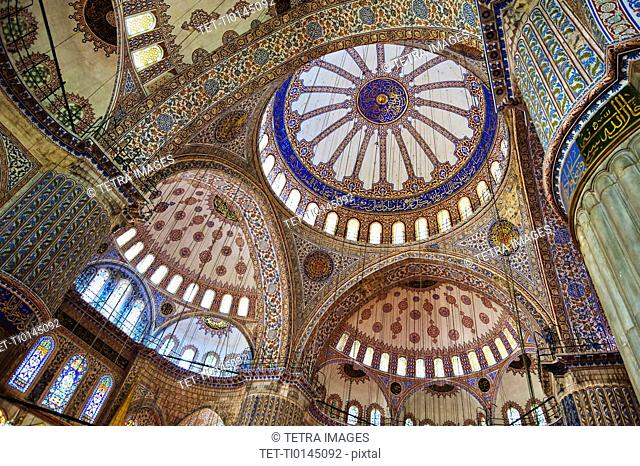 Turkey, Istanbul, Blue Mosque interior