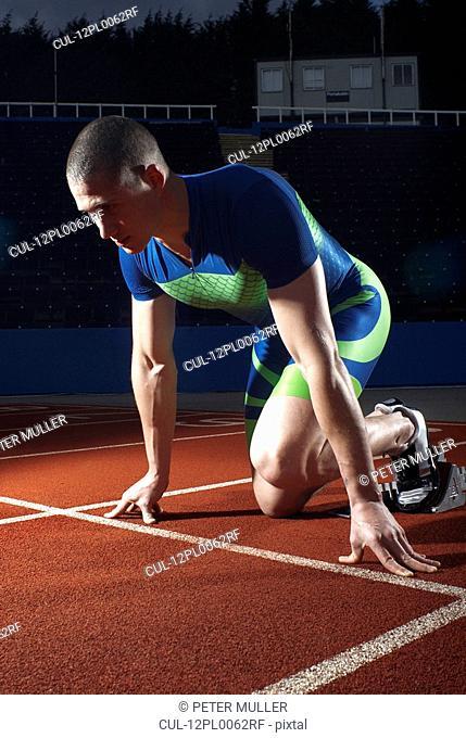athlete at start