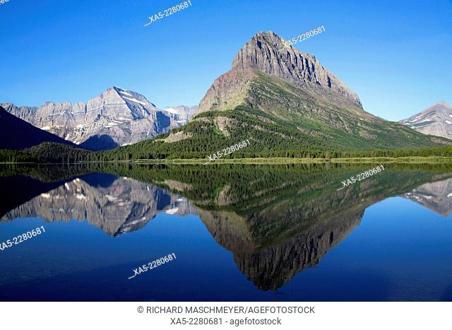 Swiftcurrent Lake, Many Glacier Area, Glacier National Park, Montana, USA