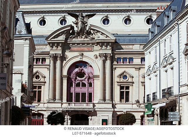 Facade of the Municipal Theatre. Tours. France
