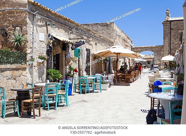 Street of Marzamemi, Sicily
