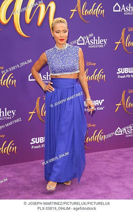 "Jada Pinkett Smith at The World Premiere of Disney's """"Aladdin"""" held at El Capitan Theatre, Hollywood, CA, May 21, 2019"