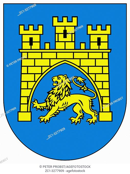 Coat of arms of the Ukrainian city of Lviv - Ukraine