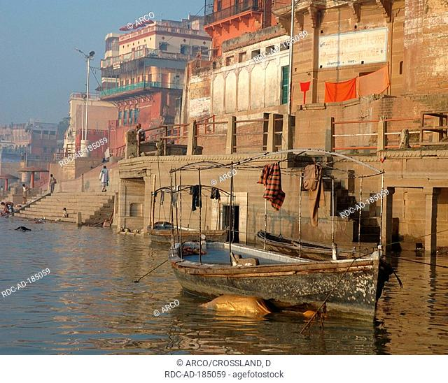 Corpse floating in river Ganges, Varanasi, India