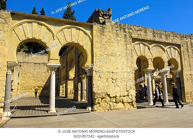 Ruins of Medina Azahara, palace-city built by caliph Abd al-Rahman III. Cordoba province, Andalusia, Spain