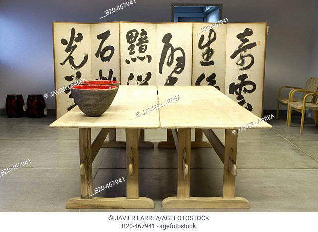 Japanese ambiance. Juantxo Mugica Decoración exhibition. Oyartzun, Gipuzkoa. Euskadi. Spain