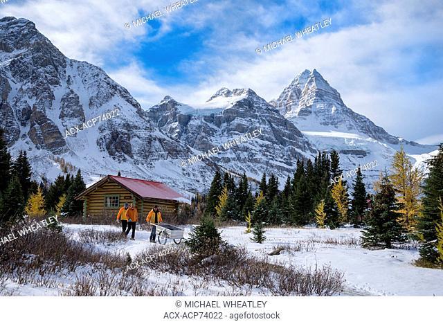 Staff of Mount Assiniboine Lodge, Mount Assiniboine Provincial Park, British Columbia, Canada