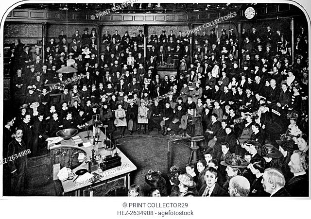A lecture at the Royal Institution, London, c1903 (1903). Artist: Unknown