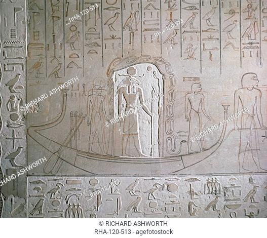Interior of the tomb of Horemheb, Valley of the Kings, Thebes, UNESCO World Heritage Site, Egypt, North Africa, Africa