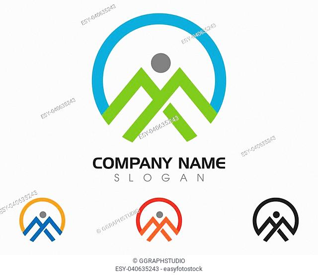 Human character logo sign Health care logo sign. Nature logo sign. Green life logo sign. Vector logo template