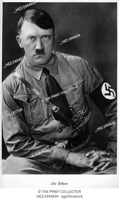 Adolf Hitler, Austrian born dictator of Nazi Germany, 1938. Hitler (1889-1945) became leader of the National Socialist German Workers (Nazi) party in 1921