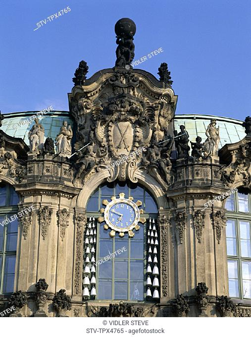 Detail, Dresden, Germany, Europe, Holiday, Landmark, Saxony, The, Tourism, Travel, Vacation, Wallpavillon, Zwinger