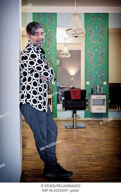 Hairdresser man owner portrait Hairdressing chairs