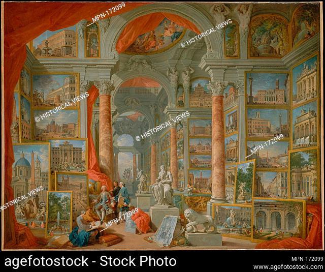 Modern Rome. Artist: Giovanni Paolo Panini (Italian, Piacenza 1691-1765 Rome); Date: 1757; Medium: Oil on canvas; Dimensions: 67 3/4 x 91 3/4 in. (172
