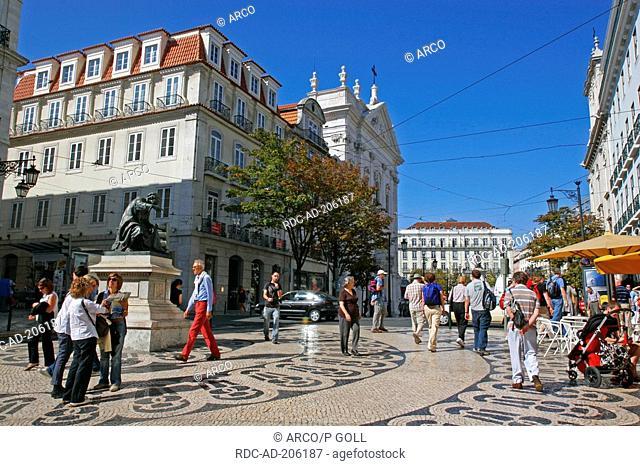 Largo do Chiado, quarter Chiado, Lisbon, Portugal