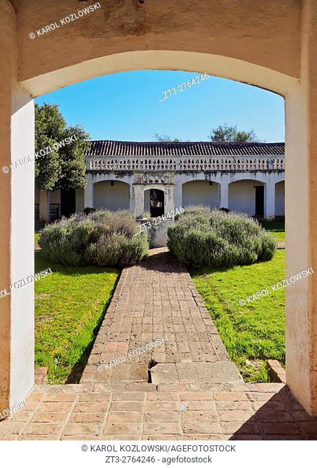 Argentina, Cordoba Province, Colonia Caroya, View of the patio of the Jesuit Estancia Caroya