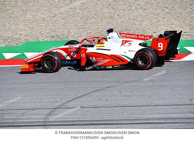Mick SCHUMACHER (Prema Racing), FORMULA 2, action in his racing car. Formula 1: GP of Austria ,, Red Bull Ring Zeltweg, Spielberg, season 2019, on 29
