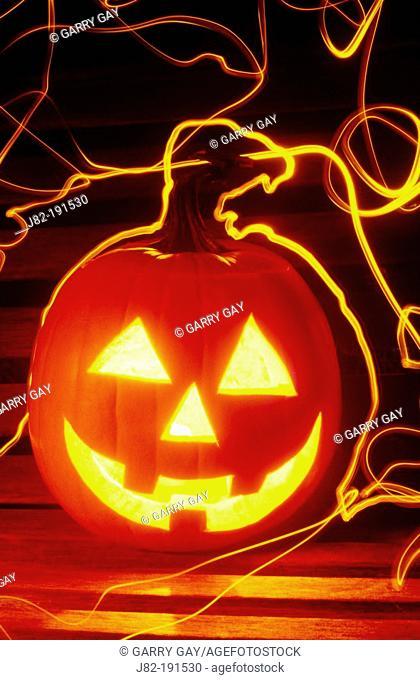 Carved halloween pumpkin