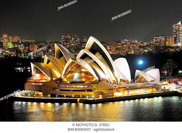 Sydney Opera at night, Australia, New South Wales, Sydney