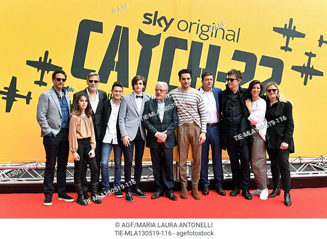 Grant Heslov, Viola Pizzetti, George Clooney, Giovanni Stocchino, Domenico Cuomo, Giancarlo Giannini, Christopher Abbott, Kyle Chandler, Richard Brown
