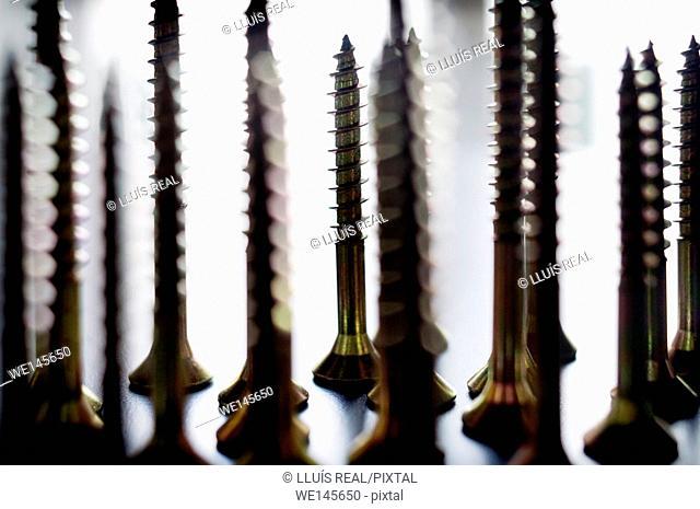 Still life of screws