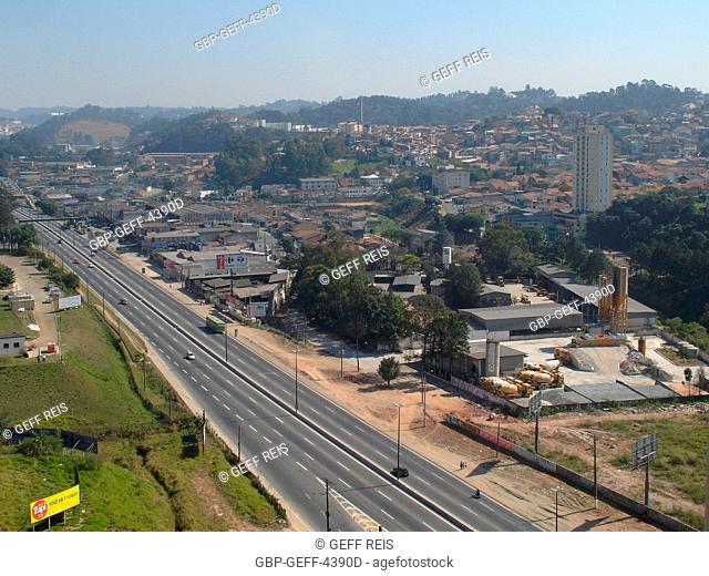 City, Highway, Regis Bittencourt Highway, Taboão da Serra, São Paulo, Brazil