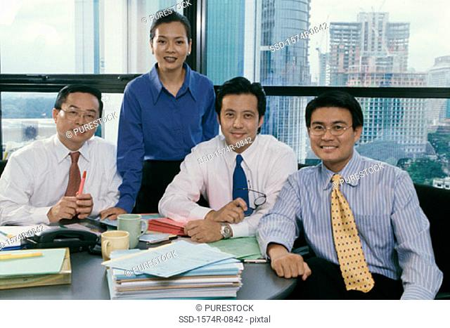 Portrait of a group of business executives in an office