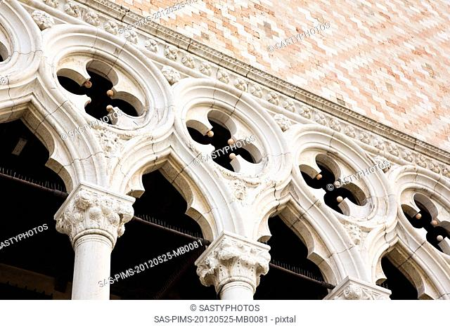Low angle view of a palace, Doge's Palace, St. Mark's Square, Venice, Veneto, Italy