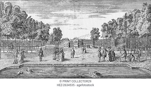 Kensington Palace in Georgian Times, c1750 (1911). Artist: John Rocque