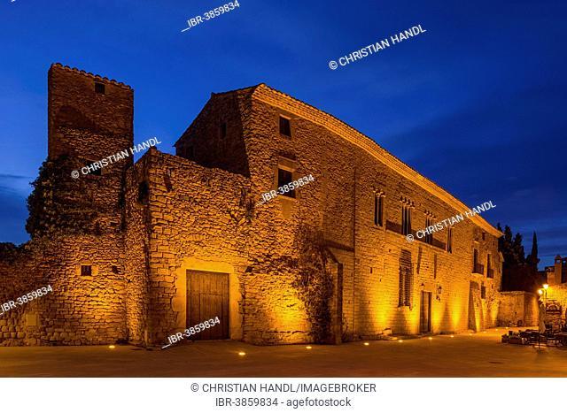 Town Hall, historical town centre of Peratallada, Catalonia region, Spain