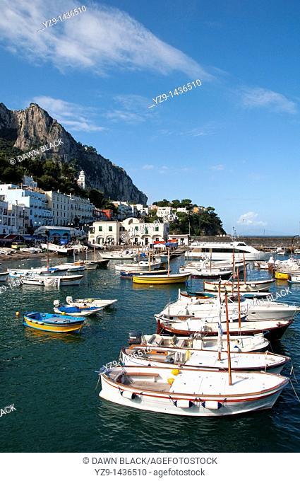 Capri Harbour, Italy