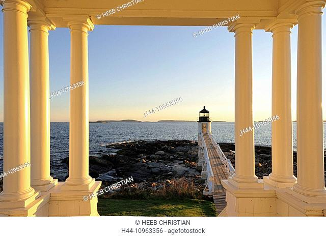 USA, United States, America, East Coast, New England, coastal, rocky, coast, Marshall Point, Rockland, columns
