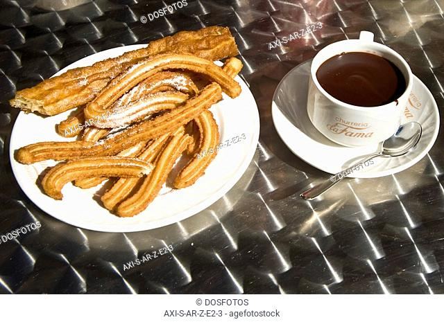 Chocolate con churros , Expo 2008, Zaragoza, Aragon, Spain
