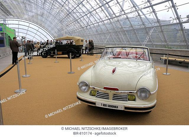 1949 Tatra T 601 Cabrio or convertible, celebrity car exhibition, Svetlana Stalin, AMI Automobil International, international auto show, Leipzig, Saxony