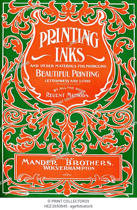 'Printing Inks and Other Materials for Producing Beautiful Printing - advert', 1916. Artist: Mander Brothers