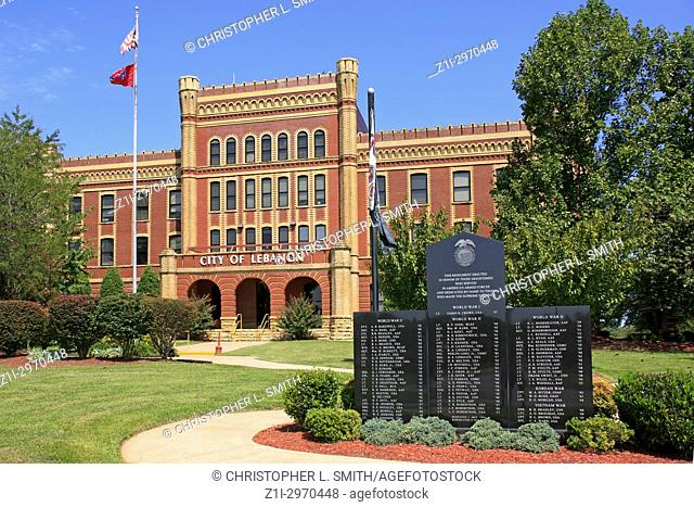 City of Lebanon city hall once Castle Heights Military Academy in Lebanon TN, USA