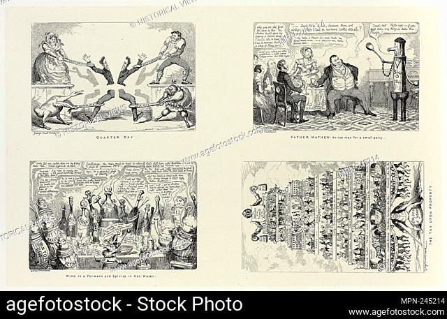Quarter Day from George Cruikshank's Steel Etchings to The Comic Almanacks: 1835-1853 (top left) - 1844, printed c. 1880 - George Cruikshank (English