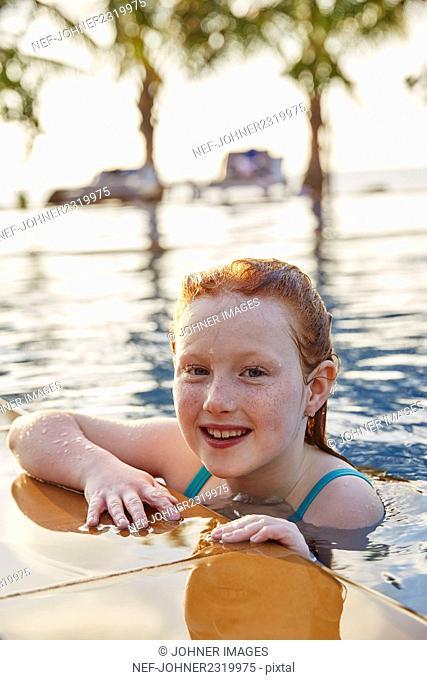 Girl in swimming-pool