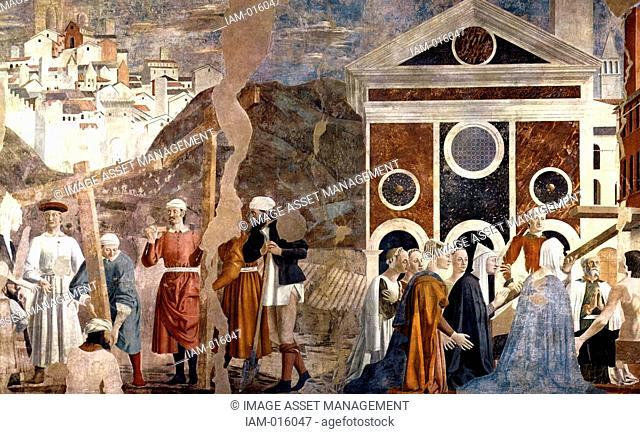 Piero Della Francesca 1416-1417 -1492 . Discovery and Proof of the True Cross, Fresco, at San Francesco, Arezzo. Circa 1460