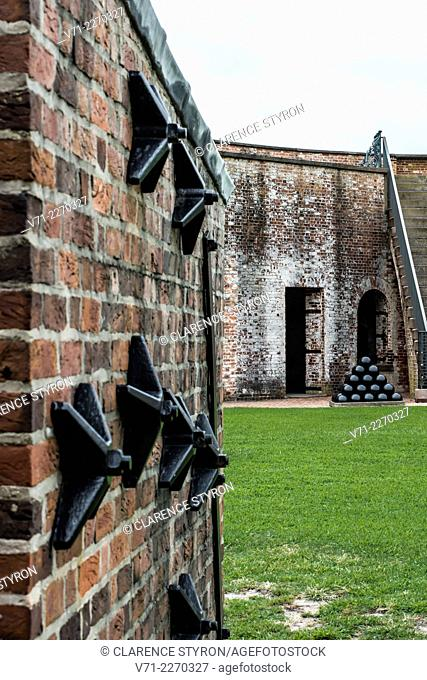 Fort Macon on Bogue Banks, NC, Furnace for Heating Cannon Balls, Built in 1860's to Defend Beaufort Harbor